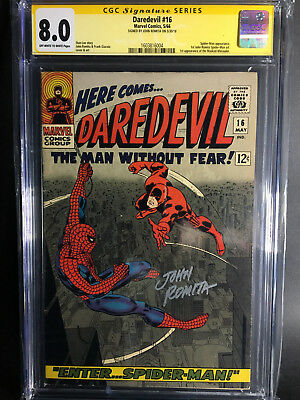 Daredevil #16 CGC SS 8.0 (signed by Romita, 1st Romita Spidey art)