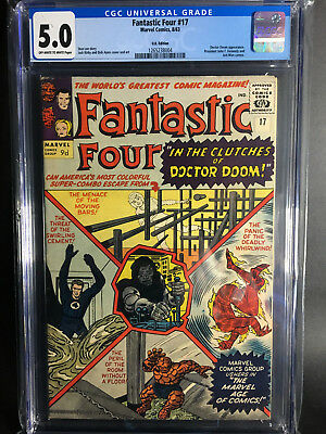 Fantastic Four #17 CGC 5.0 UK Edition