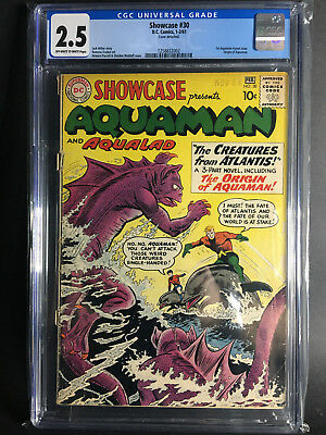 Showcase #30 CGC 2.5 (1st Silver Age Aquaman, and 1st Aqualad)