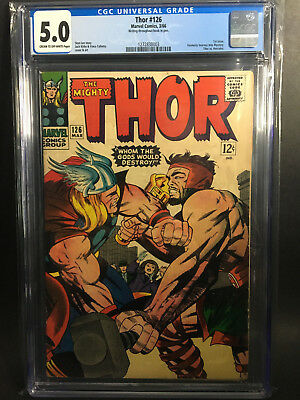 Thor #126 CGC 5.0 (1st issue of Thor's own series)