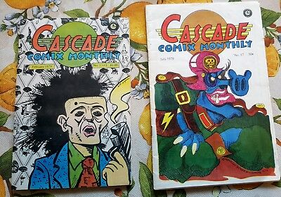 LOT OF 2 > CASCADE COMIX MONTHLY #11-12 VF/NM COPY(2/79) & #17 FN+ copy(7/79)