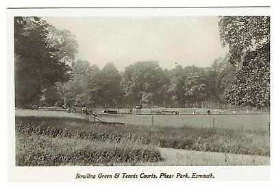 Devon postcard Bowling green & Tennis Courts Phear Park Exmouth
