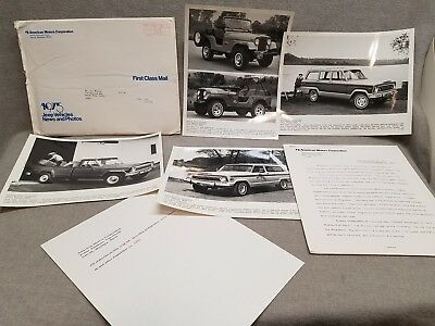 1975 AMC Jeep Press Kit Photos Renegade Wagoneer Cherokee Pickup
