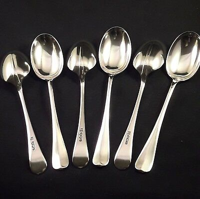 Sterling Silver Georgian Hanoverian Rattail patn spoons.Fantastic Quality 117.5g