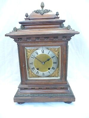 Antique Superb Large Bracket Clock 3 Glass 1/4 Striking Ting Tang RSM 1890/1900