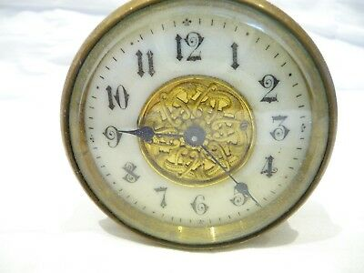 Antique Miniature French Clock With Platform Movement For Spares Or Repair 1890S
