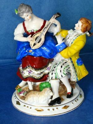 Occupied Japan Porcelain Dresden Style Courting Pair Figurine 1945-1952