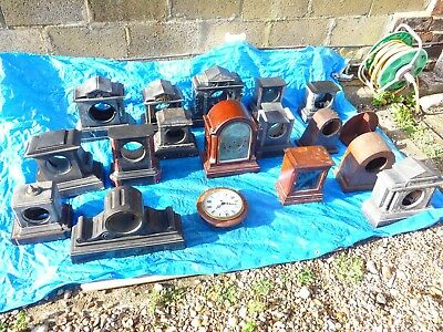 Antique French/English/German Clock Cases For Spares or Repairs
