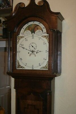 Longcase clock North country around 1820 Westmorland with Moon phase