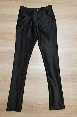 Girls Black Disco Pants From River Island VGC age 9-10