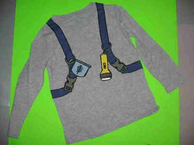 Stella Mccartney L/s Grey Polo With Stencil On Back Of Backpack Front Also S 5