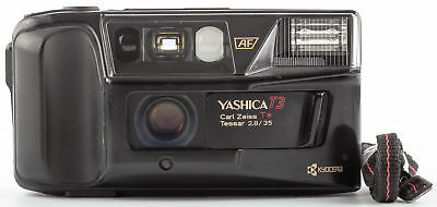 """Yashica T3 with Carl Zeiss T* Tessar 35mm 2,8 """"Adlerauge"""" SHP 57226"""