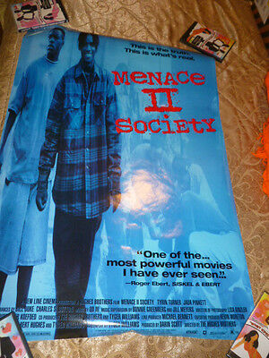 Menace To II Society Poster Original Promo 1993 Video Store Movie Promotional 2