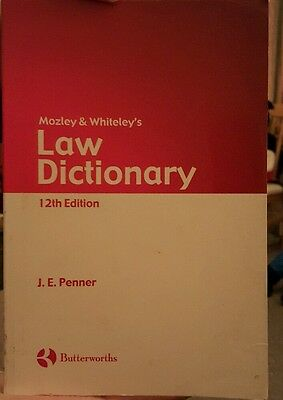 mozley and whitelys law dictionary