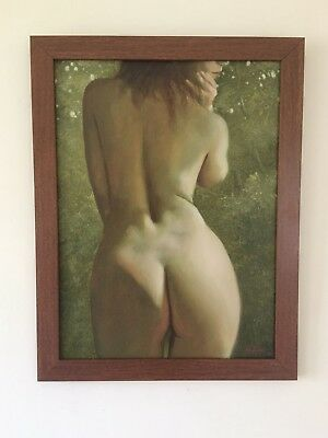 Original Classical Framed Oil Canvas Painting Signed By Artist John Silver