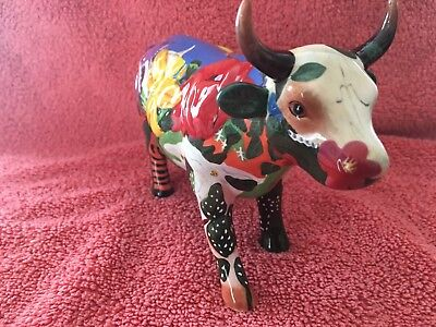 "Cow Parade ""Georgia O'Cowffe ""  Retired  #7360  w/Tag MINT IN BOX"