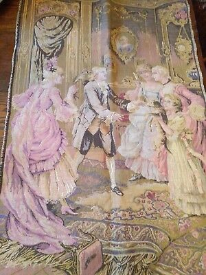 Vintage french wall tapestry hanging