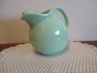 Vintage MARCREST QUALITY Green Ball Pitcher with Ice Lip Excellent