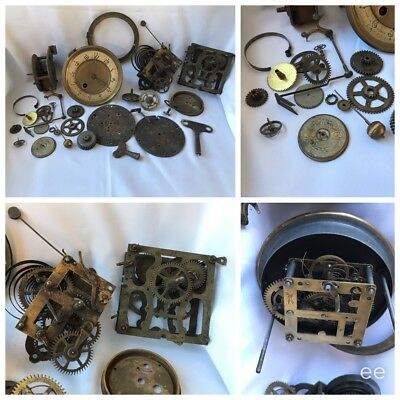 Clock Movements And Parts Lots Of Nice Old Bits