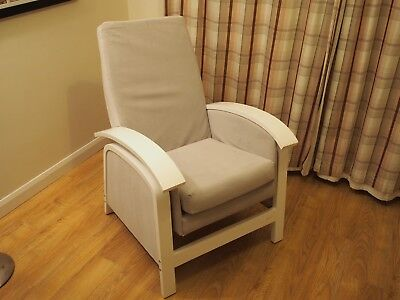 Kub Rosewell Glider Nursing Chair and Foot Stool,White & Grey. Good condition