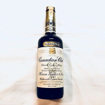 Canadian Club 6 Year Old Whisky Collector Bottle 1976. Never opened (75cl, 40%)