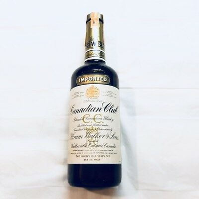 Canadian Club 6 Year Old Whisky Collector Bottle 1971 Never opened (75cl, 40%)