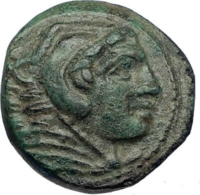 ALEXANDER III the Great 325BC Macedonia Ancient Greek Coin HERCULES CLUB i69276