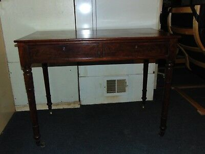 William the IV Mahogany Writing Table, Desk. Totally Unmolested. Stunning
