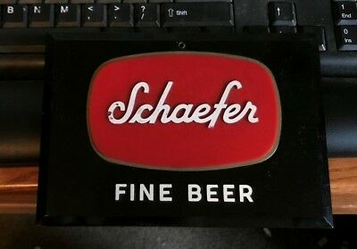Vintage F&m Schaefer Beer - Brewing Co Advertising Sign Brooklyn Ny  New York