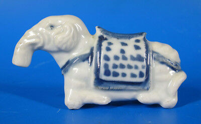 17th C Ming Wanli Period Blue White Porcelain Elephant Form Water Dropper NR yqz