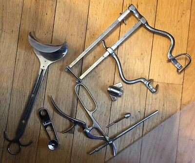 Antique Vintage Surgical Medical Tools Equipment Hospital Old Interesting!!