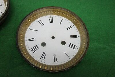 Old french clock Bezel & dial for spares repairs 135.mm.
