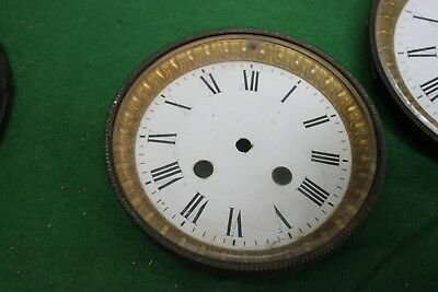 Old french clock Bezel & dial for spares repairs 123.mm.