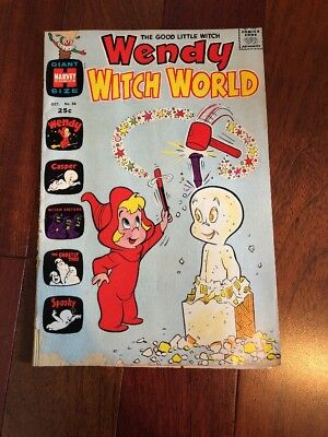 Vintage - Wendy the Good Little Witch #36 WITCH WORLD (CASPER) 1970 Harvey Comic