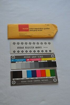 Kodak Color separation guides and grayscale -  7 inch size