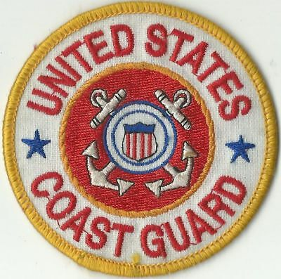 """United States Coast Guard Iron-On Patch 3"""" Round Anchors Shield"""