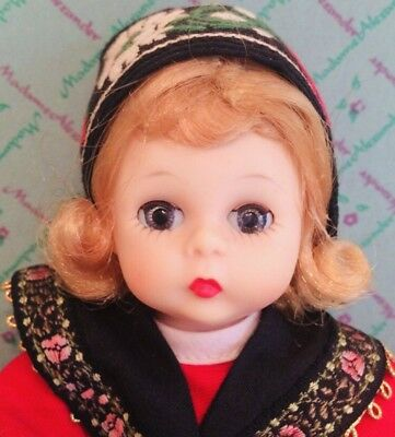 Madame Alexander Wendy Kins Swedish 8 Inch Doll Tag Dress Box BKW 1965 Rare