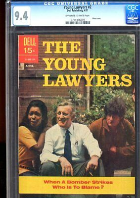 Young Lawyers #2 (1971) No. 2 Cgc 9.4 Dell Publishing 1971