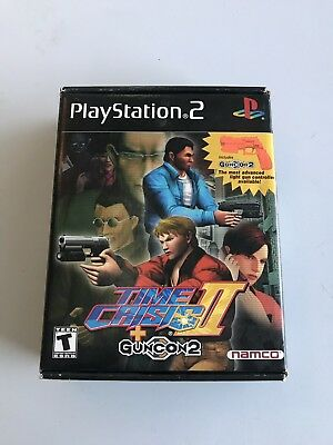 Time Crisis II + Guncon 2 (Sony PlayStation 2, 2001) PS2 Big Box Boxed
