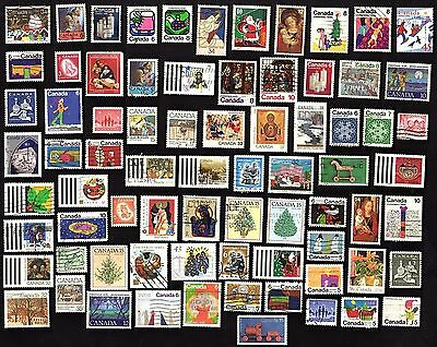 75 All Different CANADA CHRISTMAS (XMAS)   STAMPS