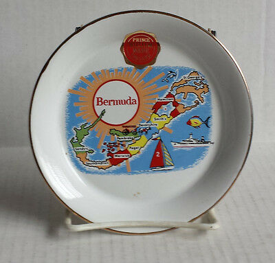 Bermuda Porcelain Coin Plate 22 kt gold by Prince William Ware made in England