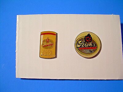 Stroh's Beer Can & Emblem Vintage Pins from the 80's