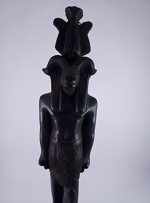 RARE ANTIQUE ANCIENT EGYPTIAN statue Stone God Goddess Khnum 1075-600 Bc