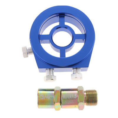 M20*1.5 and 3/4-16 Universal Oil Filter Cooler Sandwich Plate Adapter - Blue