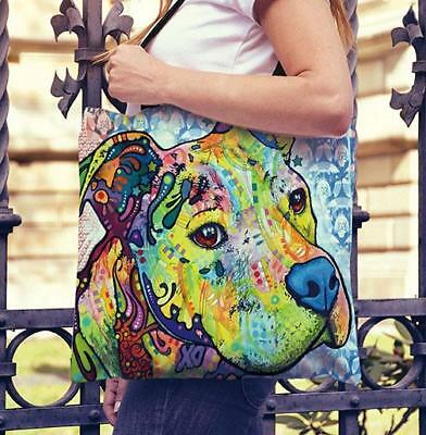 Pit Bull Tote Bags - Dean Russo Art