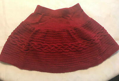 Gymboree, Pretty Red Sweater Like Skirt, Girl's, Size 3 Years