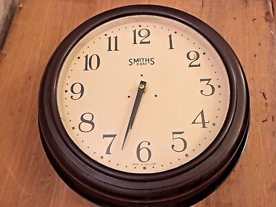 SMITHS 1950s Office Midcentury Vintage Retro Industrial Factory Clock Bakelite