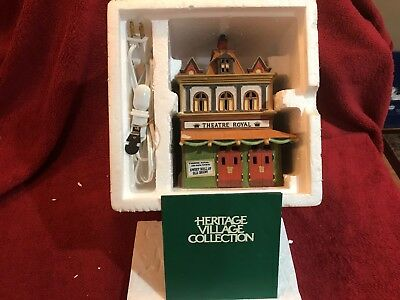 "Department 56 Dickens Village 55840 ""theatre Royal"" 1989 Lighted Building"