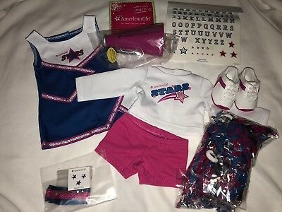 American Girl Truly Me 2-in-1 Cheer Gear Cheerleading Outfit Pompoms Set