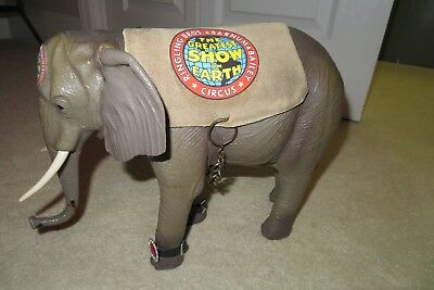 original RINGLING BROTHERS CIRCUS ELEPHANT fully costumed ROLLING TOY excellent